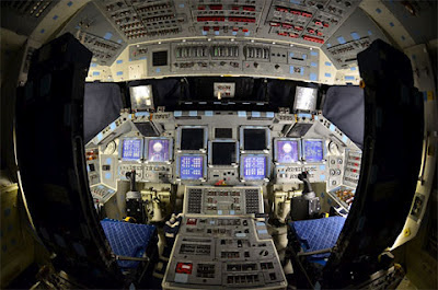 L'interno dello Space Shuttle