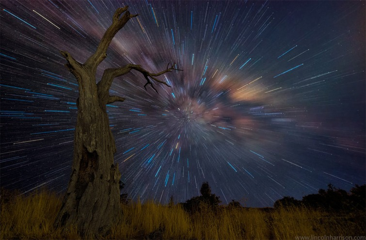 Panorama startrails. Credit: Lincoln Harrison