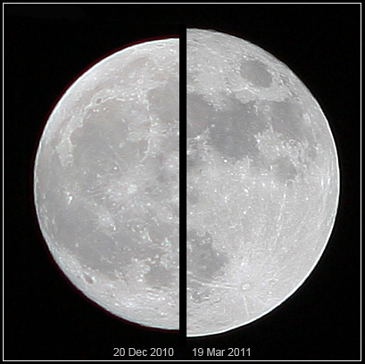SuperLuna e Luna a confronto